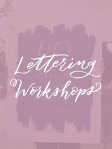 El Amante Volador - Lettering y Workshops Brush pen Caligrafía moderna
