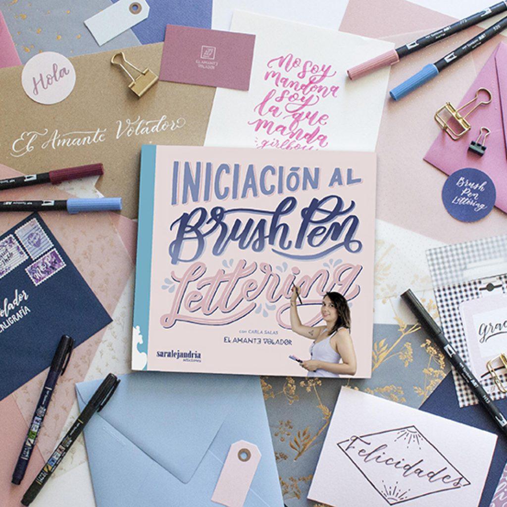 El Amante Volador - Libro Brush Pen Lettering