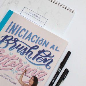 El Amante Volador - Kit completo Inciación. Libro Brush Pen Lettering, con cuaderno de prácticas y dos rotuladores Tombow.
